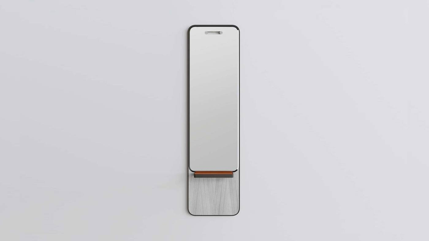 Grey Full-Size Framed Wall Mirror - Manhattan Mirrors by Ekaterina Elizarova