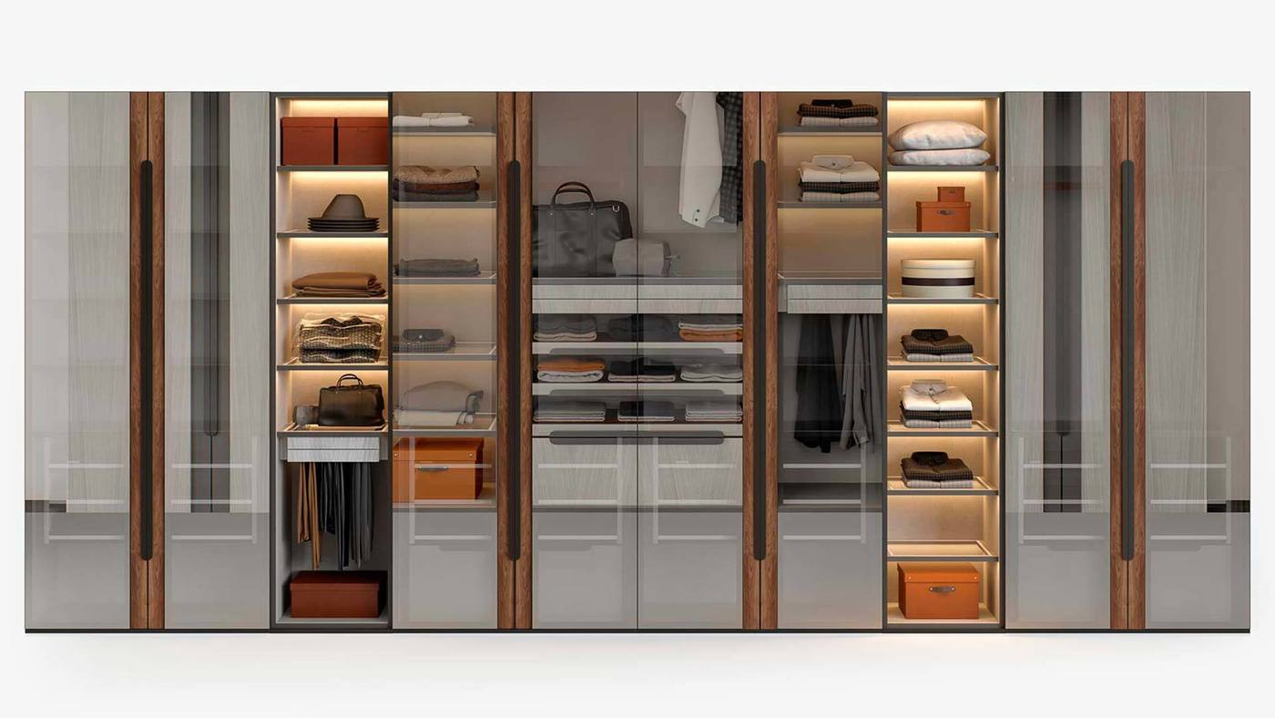 Contemporary Wardrobe Closet Design - Manhattan by Ekaterina Elizarova and Giulia Novars