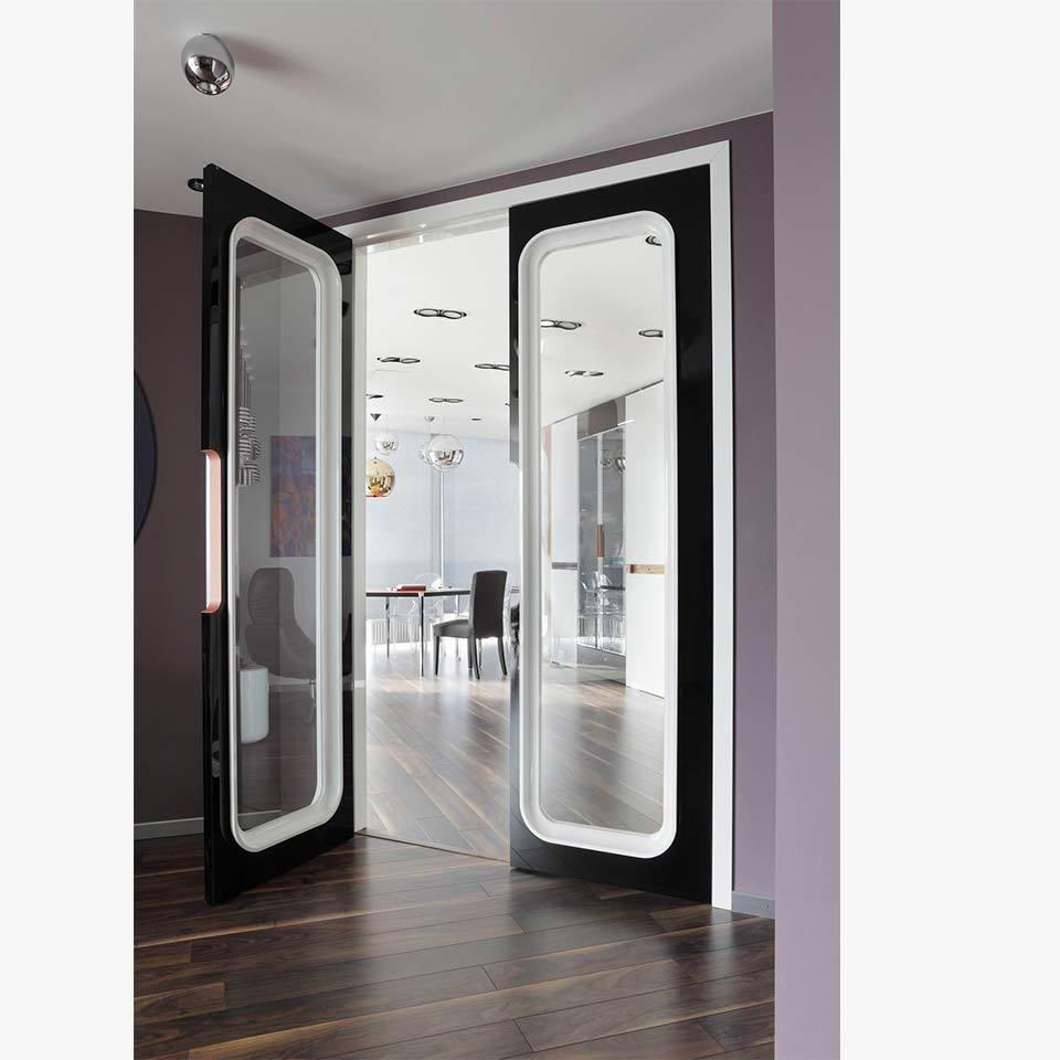 Двери в дизайн-студии - Вид на основной зал - Elizarova Design Studio