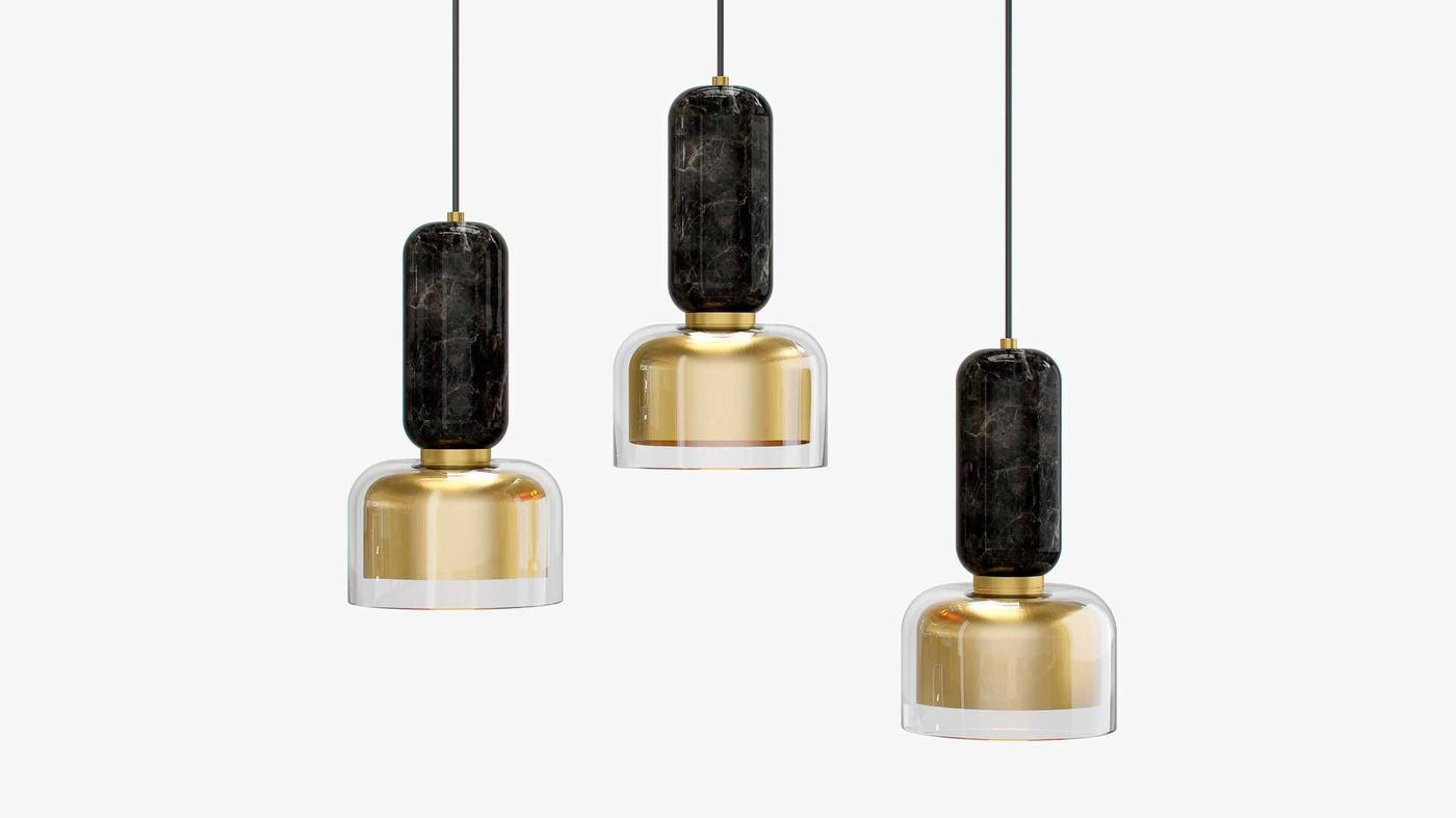 Modern Hanging Lights Made in Italy - Andromeda by Ekaterina Elizarova