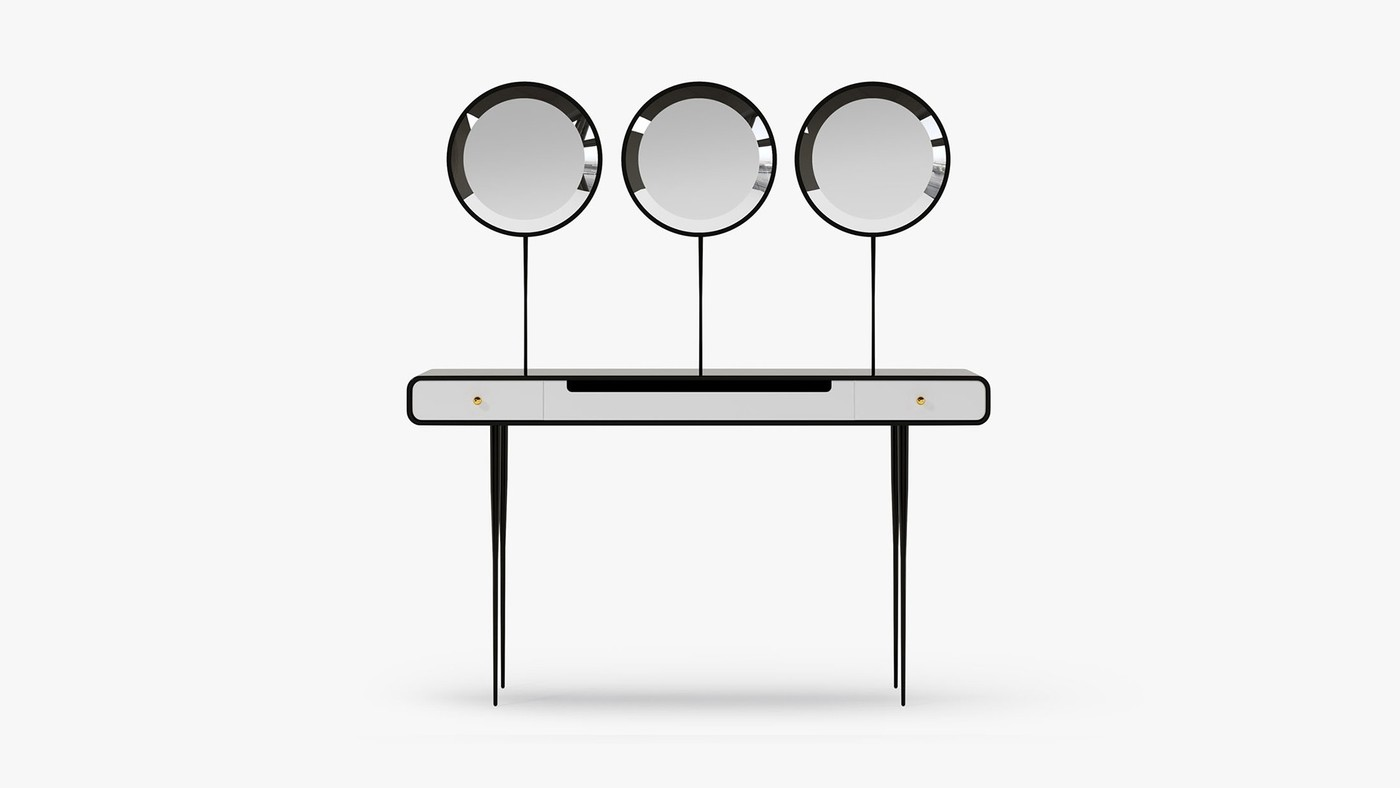 Modern Triple Mirror Vanity Table - Alien 3.0 by Ekaterina Elizarova