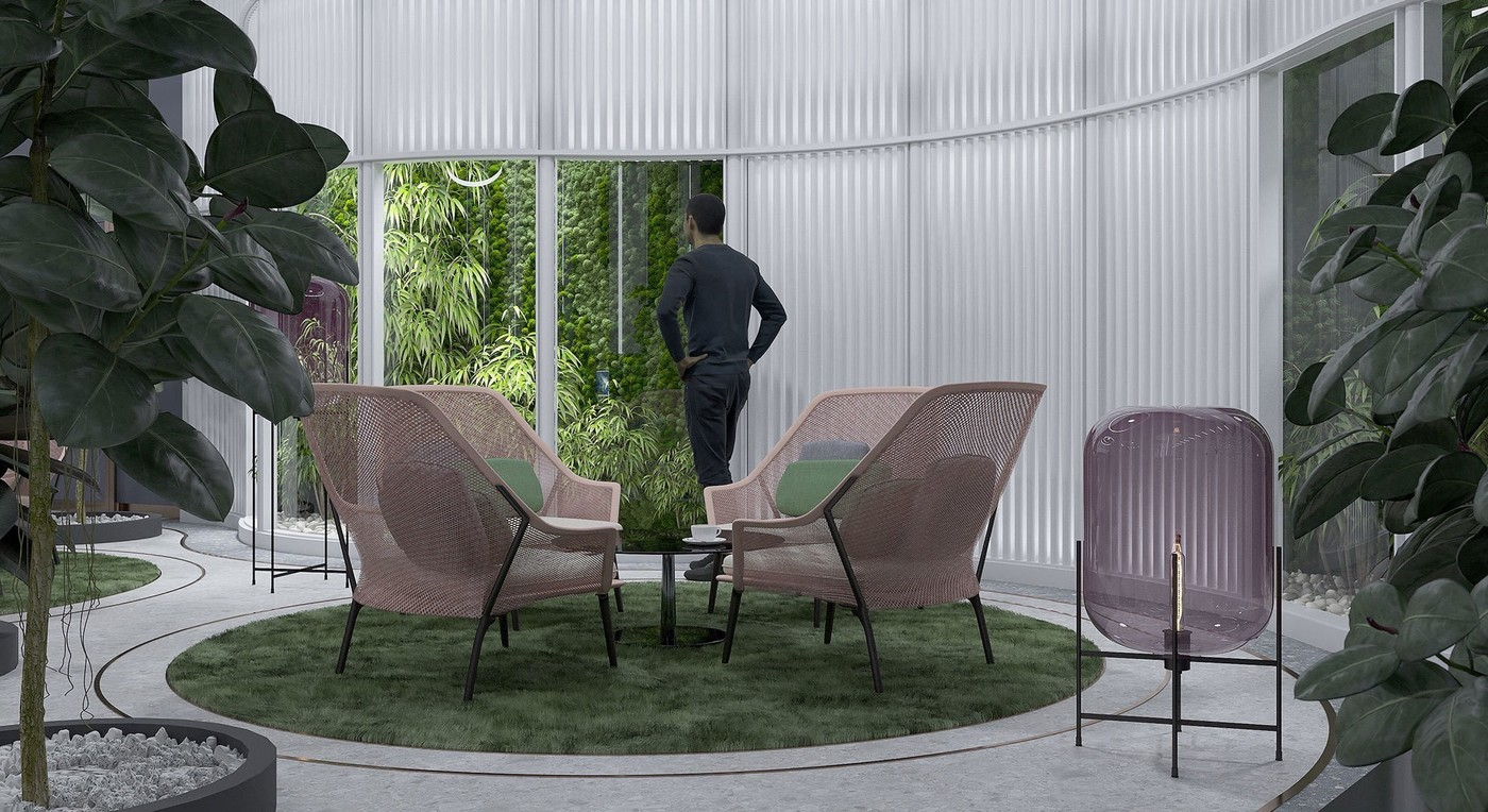 Концепт интерьера бизнес-зала аэропорта - Elizarova Design Studio