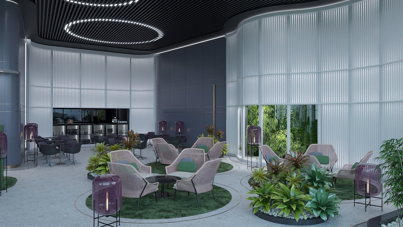 Интерьер бизнес-зала аэропорта - Elizarova Design Studio
