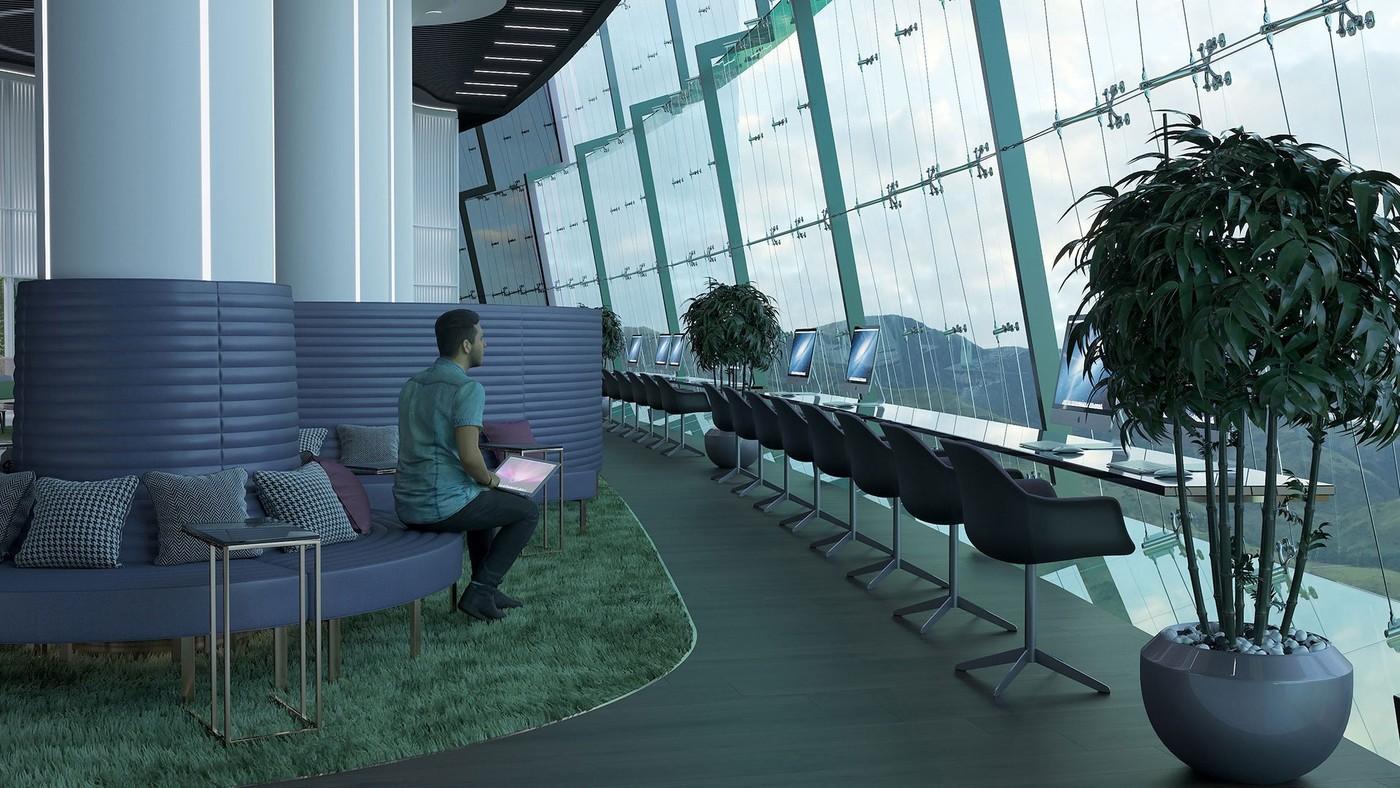 Интерьер аэропорта - Elizarova Design Studio
