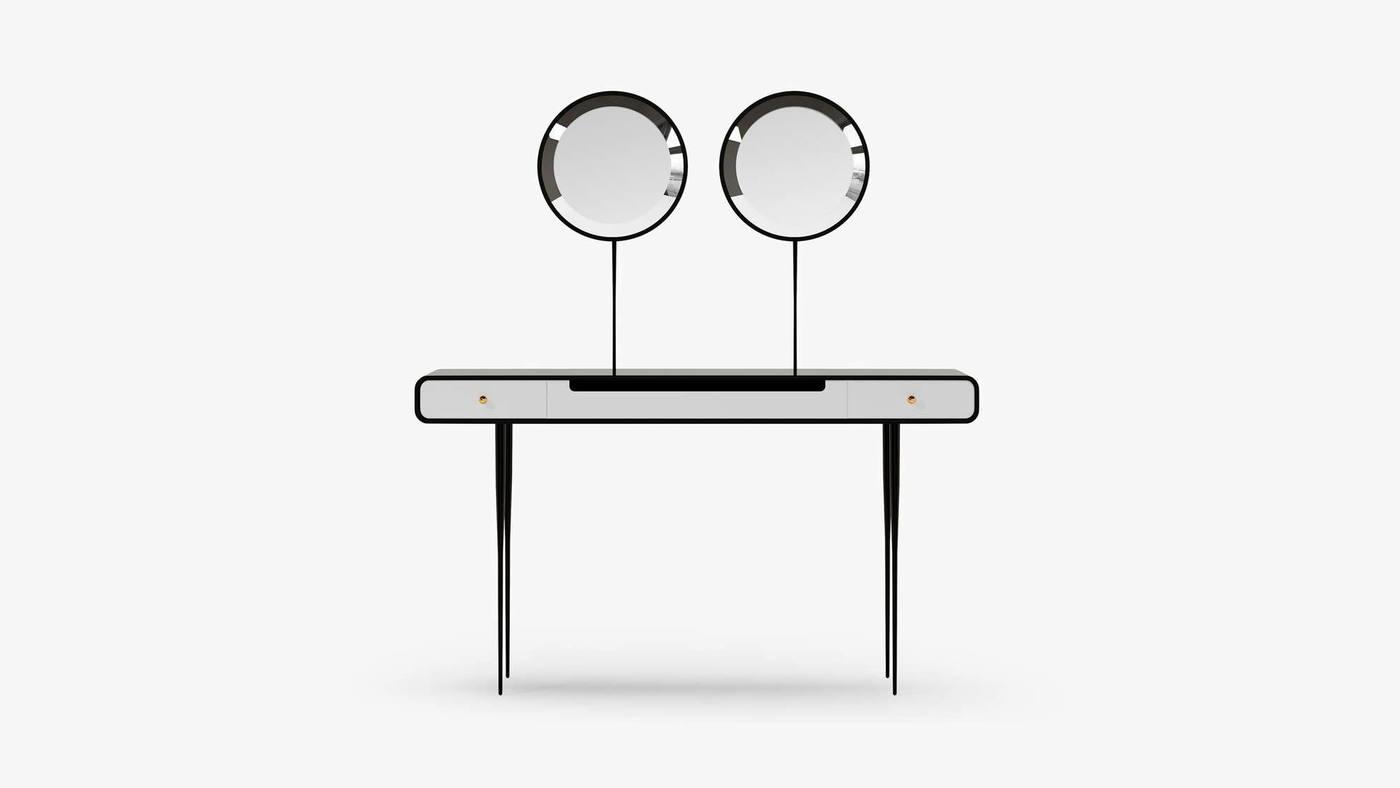 Designer High-Gloss Makeup Desk with Drawers - Alien by Ekaterina Elizarova