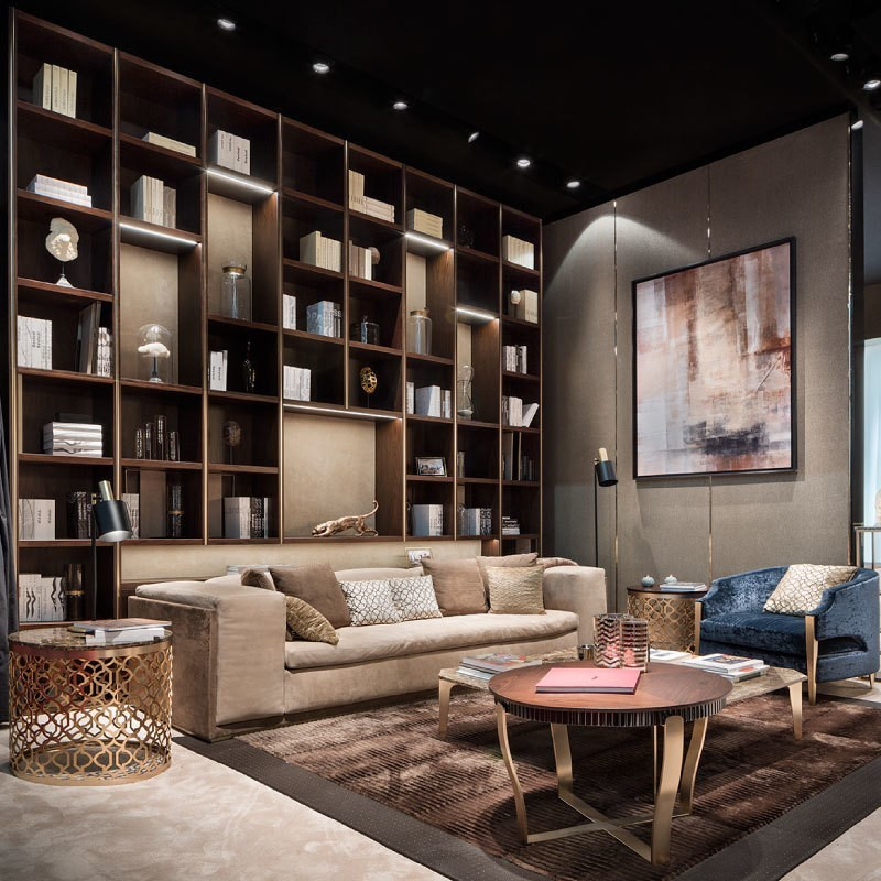 Italian Luxury Furniture Brand Exhibition Stand - Living Room Interior - Capital Collection Trade Show Booth by Ekaterina Elizarova