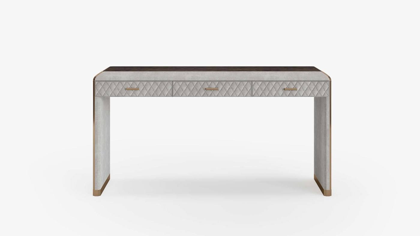 Grey Console Table with Drawers - Orion Console by Ekaterina Elizarova and Capital Collection