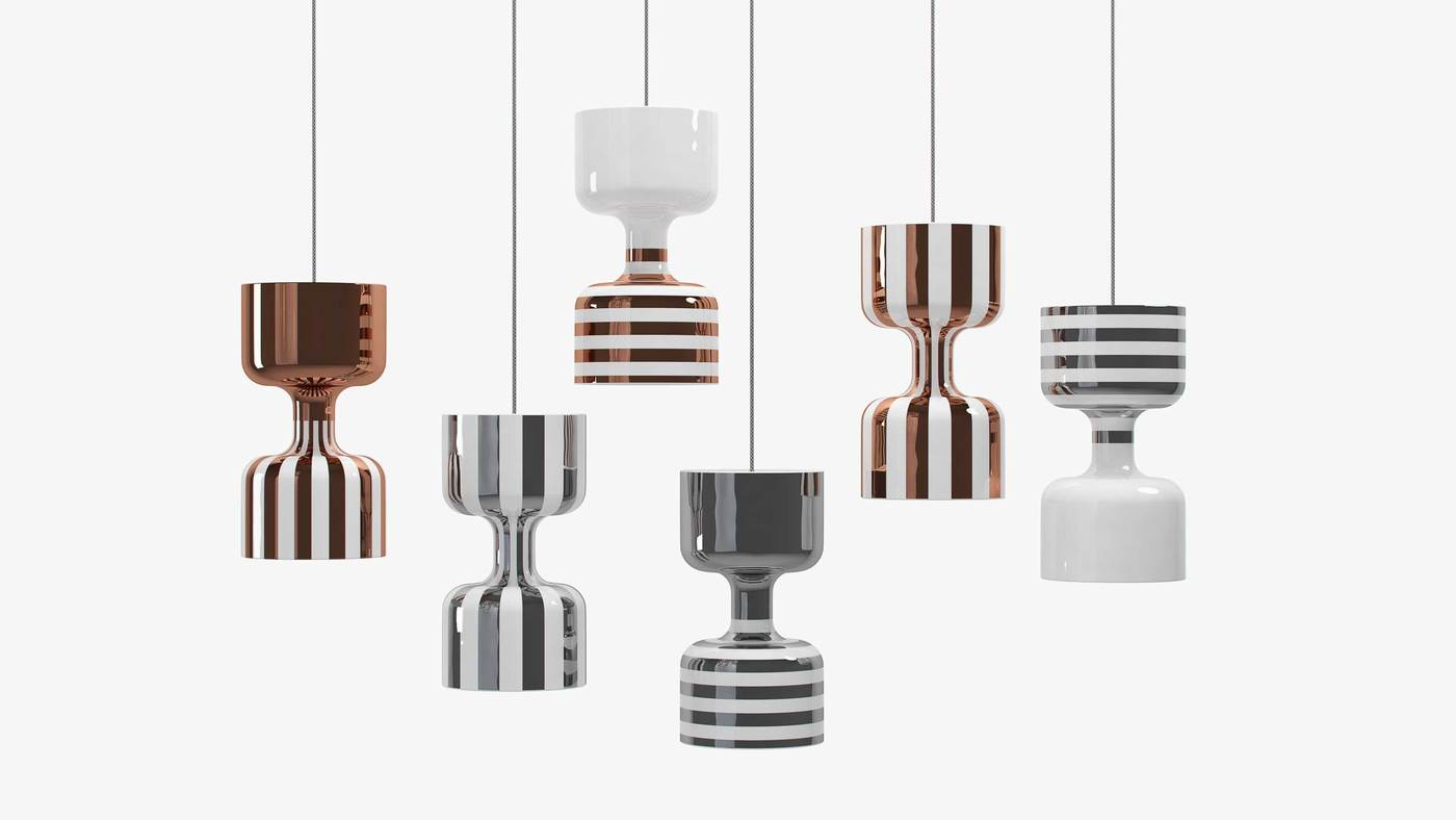 Modern Ceramic Lighting Pendants - Chapiteau by Ekaterina Elizarova