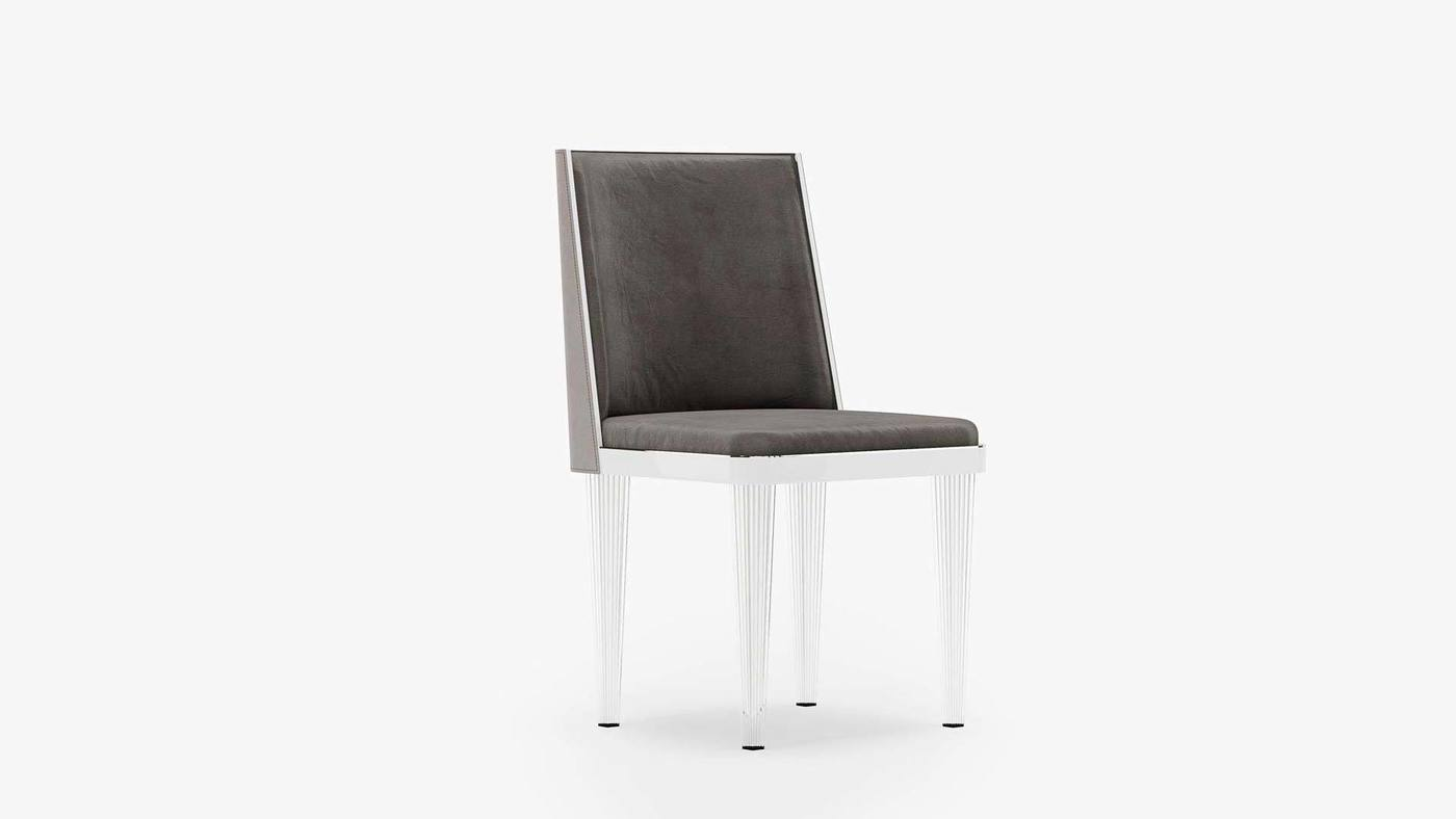 Modern Upholstered Side Chair Design