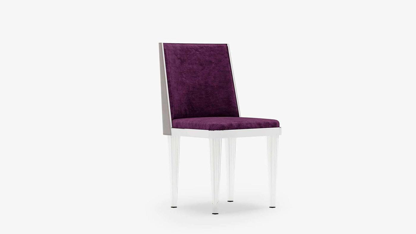 Purple Upholstered Chair Design - Crystal Dreams от Екатерины Елизаровой
