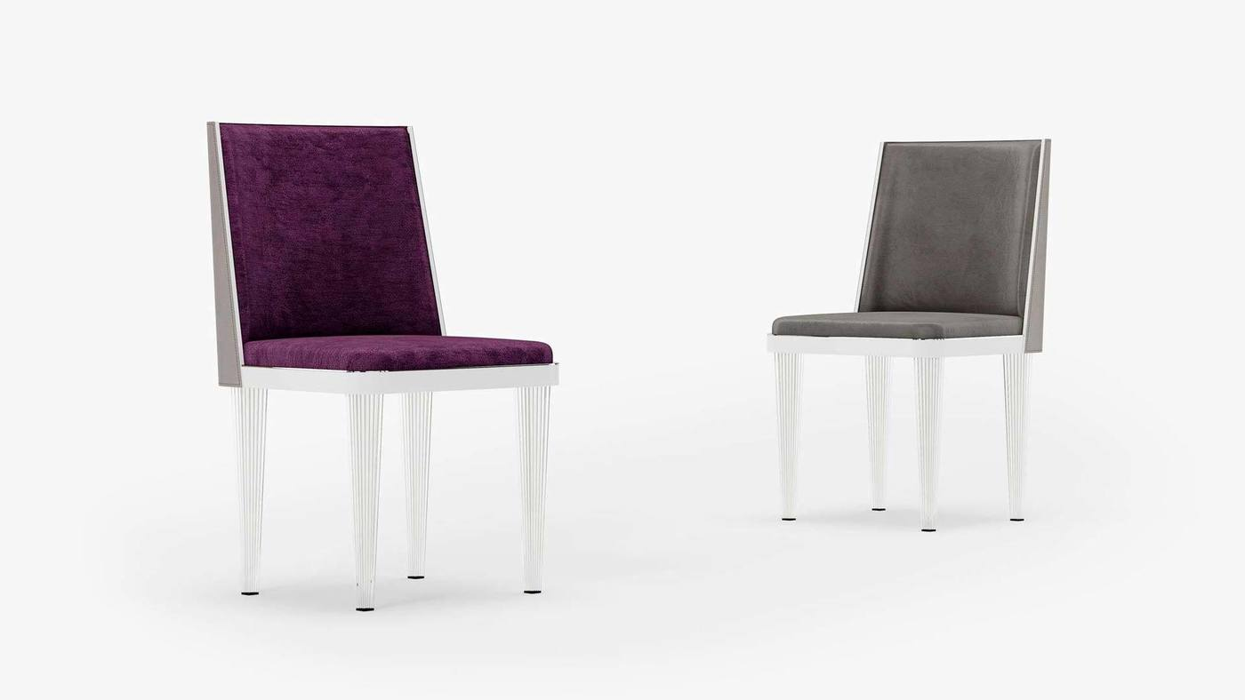 Purple and Grey Chair Design - Crystal Dreams от Екатерины Елизаровой