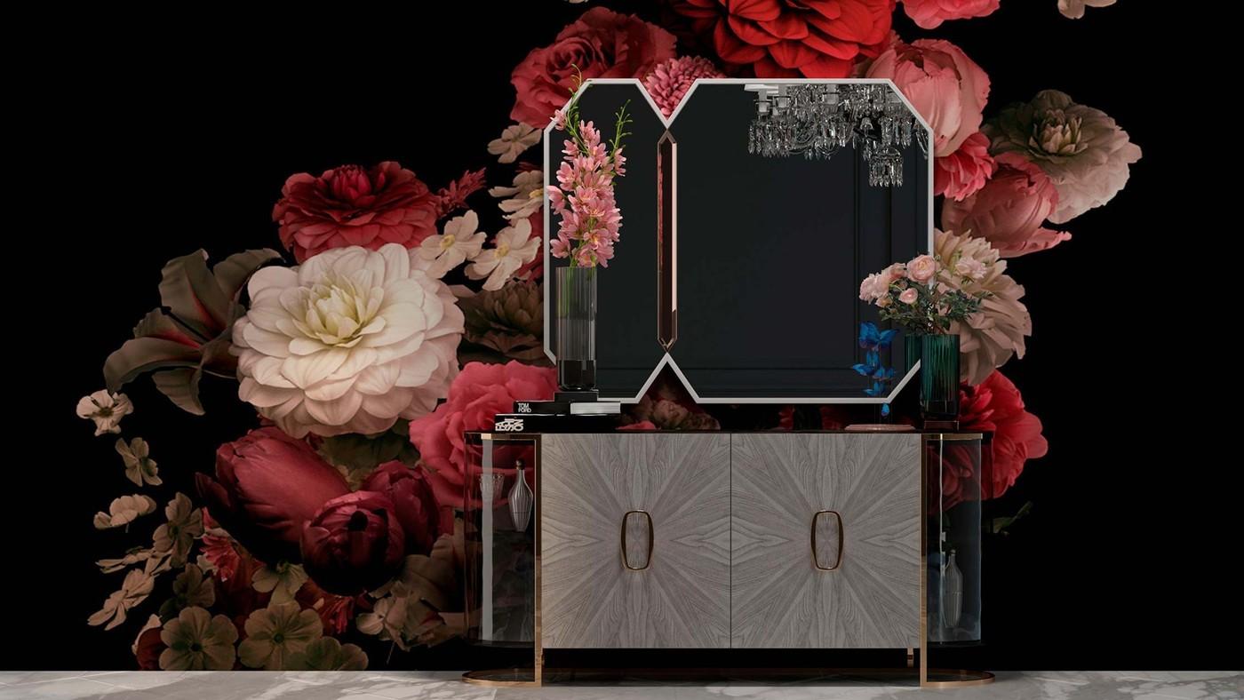Modern Decorative Mirror for Fine Bedroom - Crystalista by Ekaterina Elizarova
