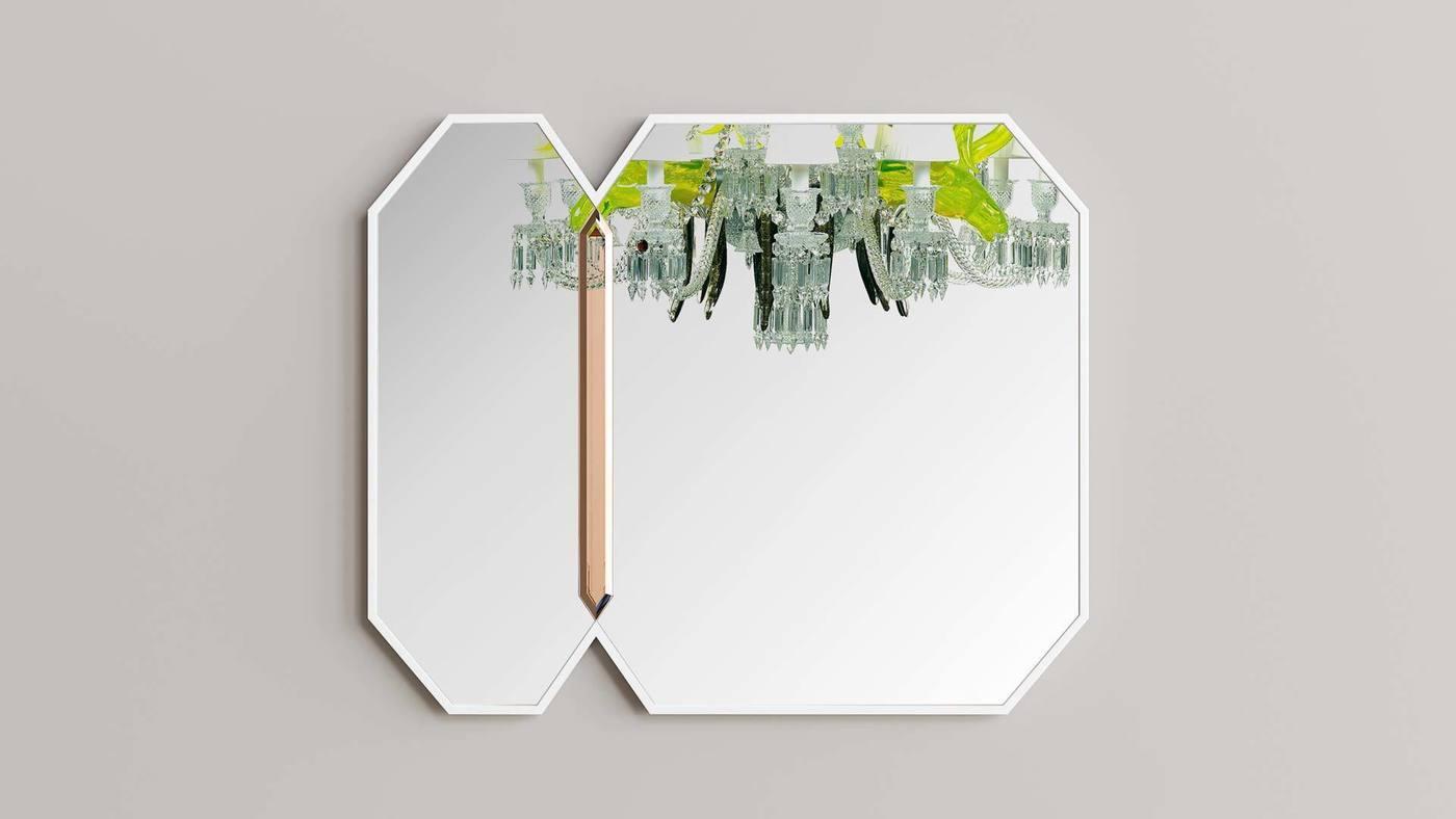 Акцентное дизайнерское настенное зеркало - Crystalista от Екатерины Елизаровой