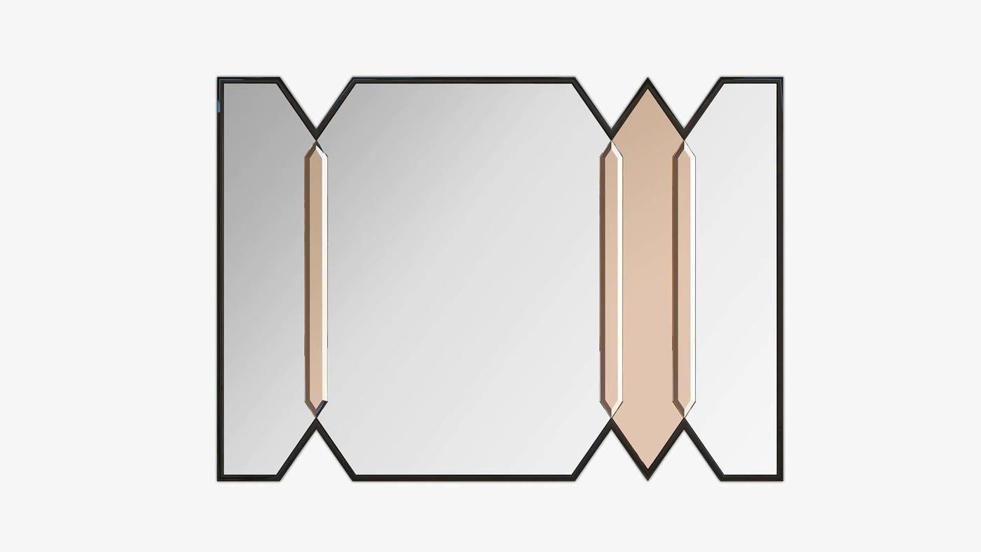 Стильное тройное настенное зеркало - Crystalista 2 от Екатерины Елизаровой
