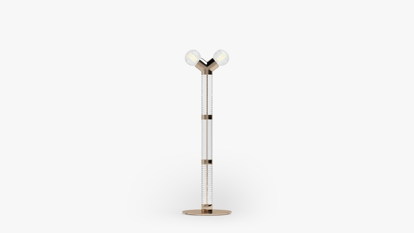 Modern Double-Bulb Floor Lamp - Dual Floor by Ekaterina Elizarova
