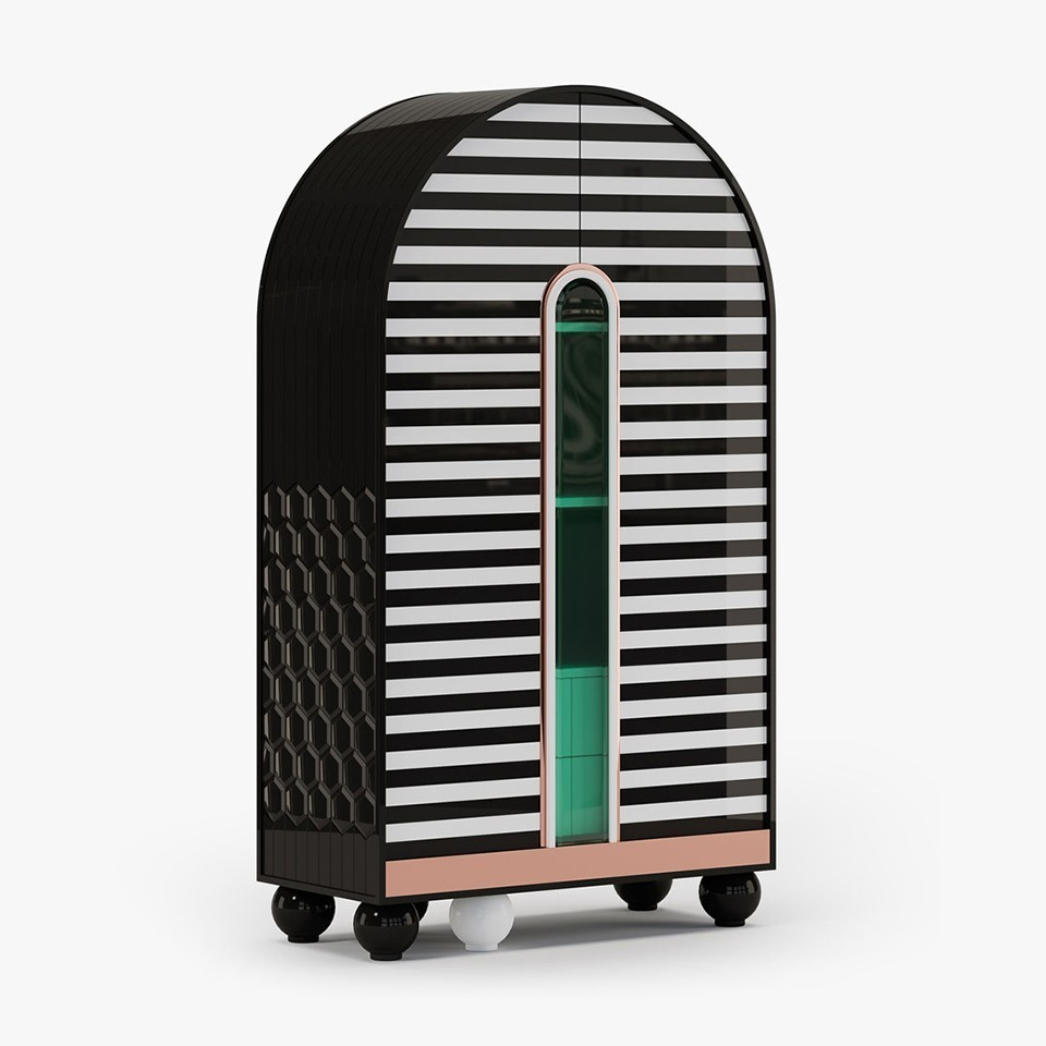 Accent Storage Cabinet Made in Italy - Egocentric Black by Ekaterina Elizarova