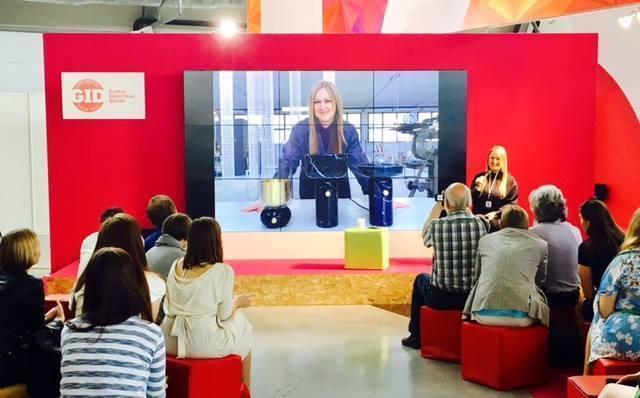 Екатерина Елизарова читает лекцию на ИННОПРОМе 2017 в рамках Global Industrial Design Forum