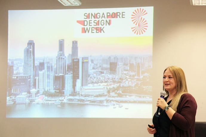Best Russian product designer Ekaterina Elizarova delivering a lecture at SingaPlural during Singapore Design Week