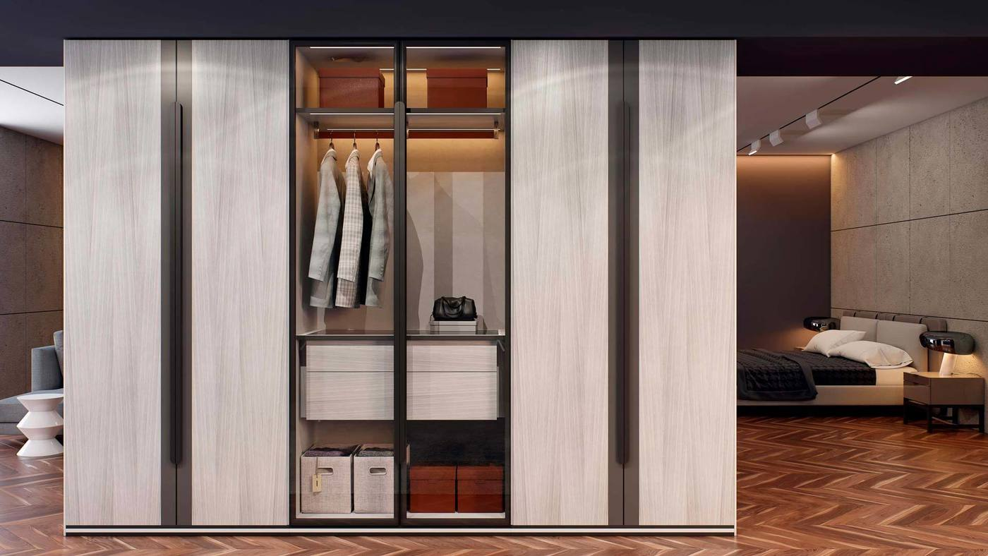 The wardrobe collection as part of a showcase interior - Manhattan by Ekaterina Elizarova and Giulia Novars