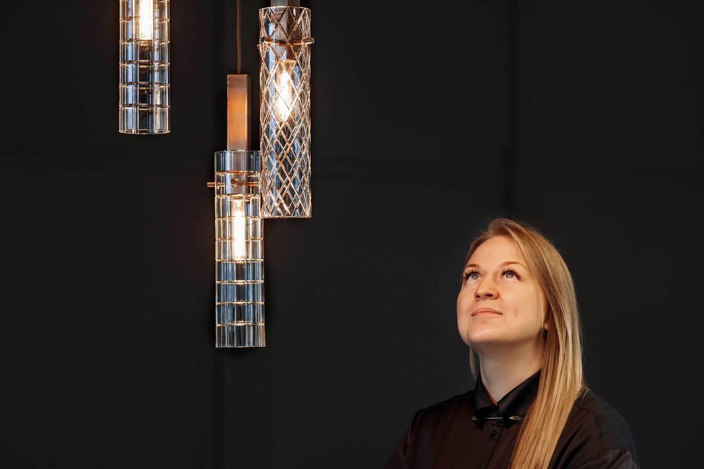 The best Russian product designer, Ekaterina Elizarova and her Geometric pendants by Preciosa