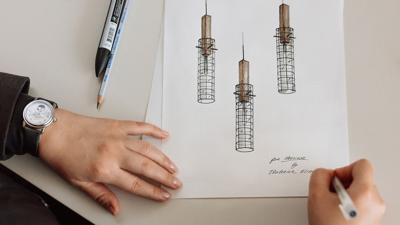 Designer pendant sketch - Geometric by Ekaterina Elizarova