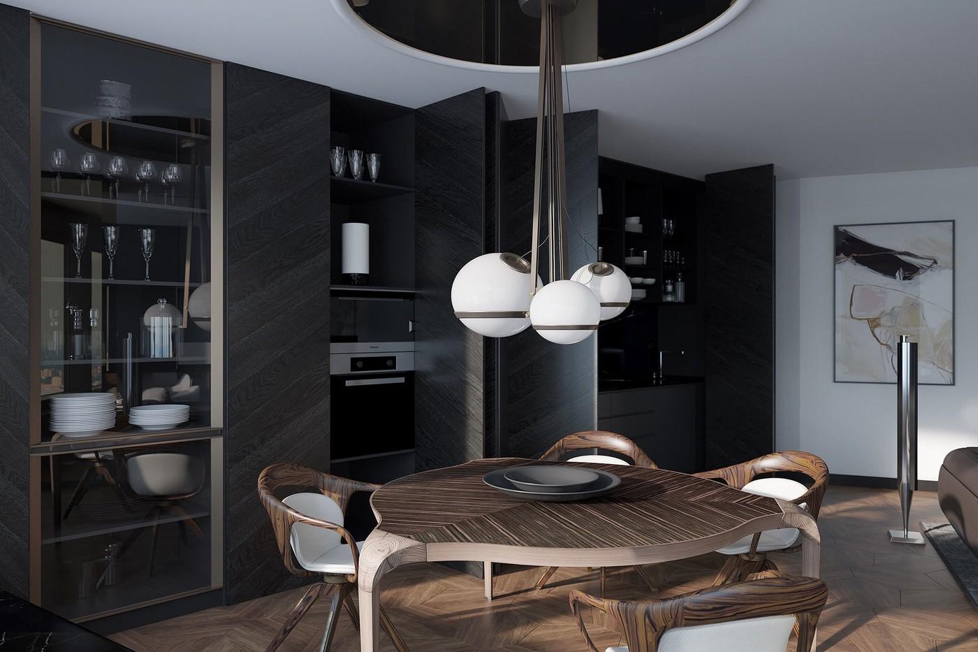 Стол Giorgetti Кало Коломбо в интерьере обеденной - Elizarova Design Studio