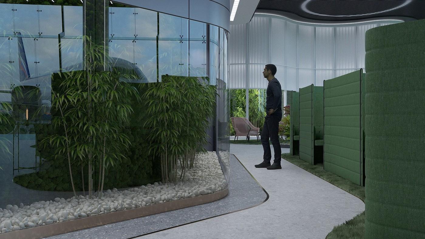 Сочетание серого и зелёного в интерьере - Elizarova Design Studio
