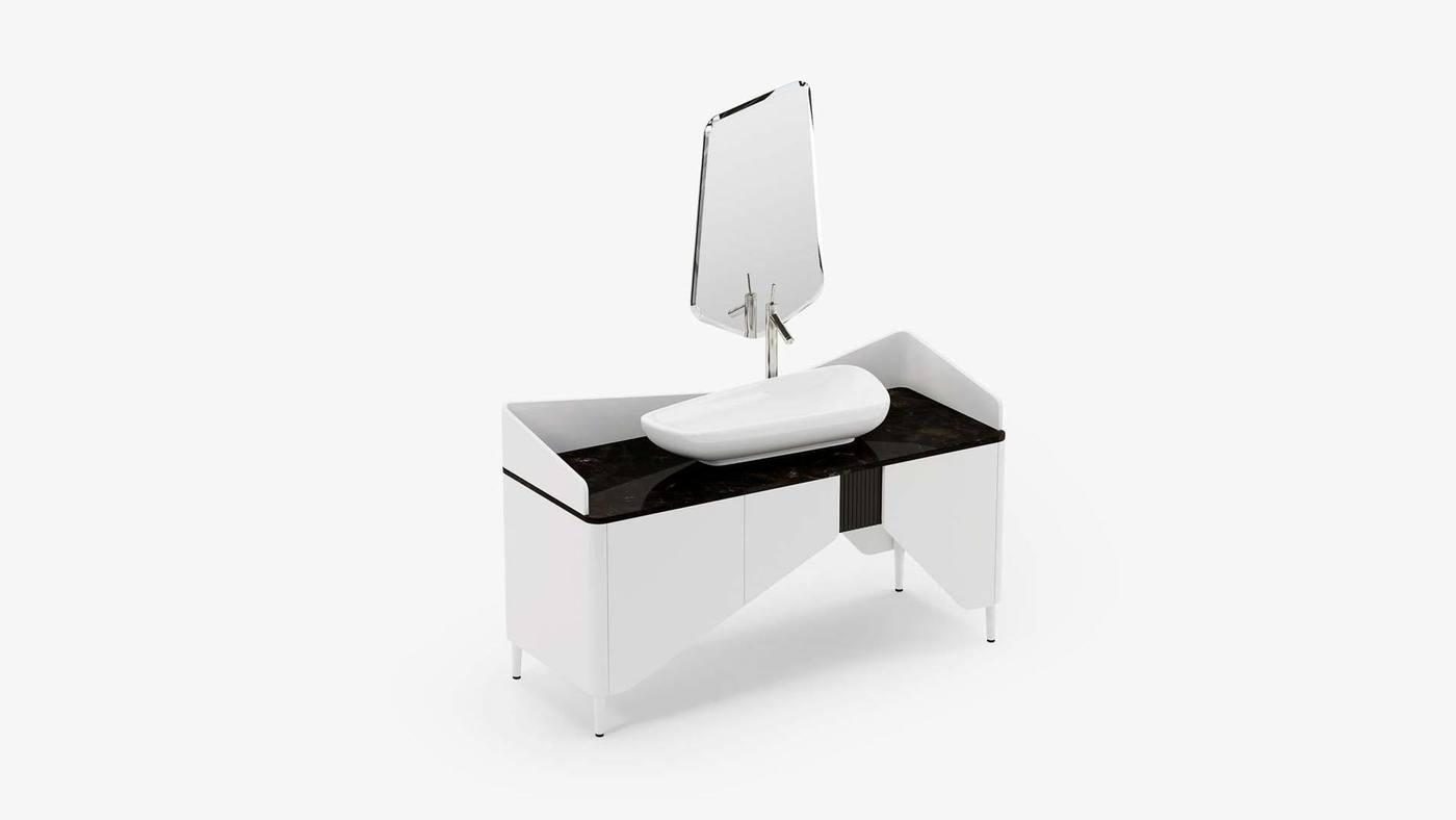 Концепт столика для ванной - Kilt от Екатерины Елизаровой