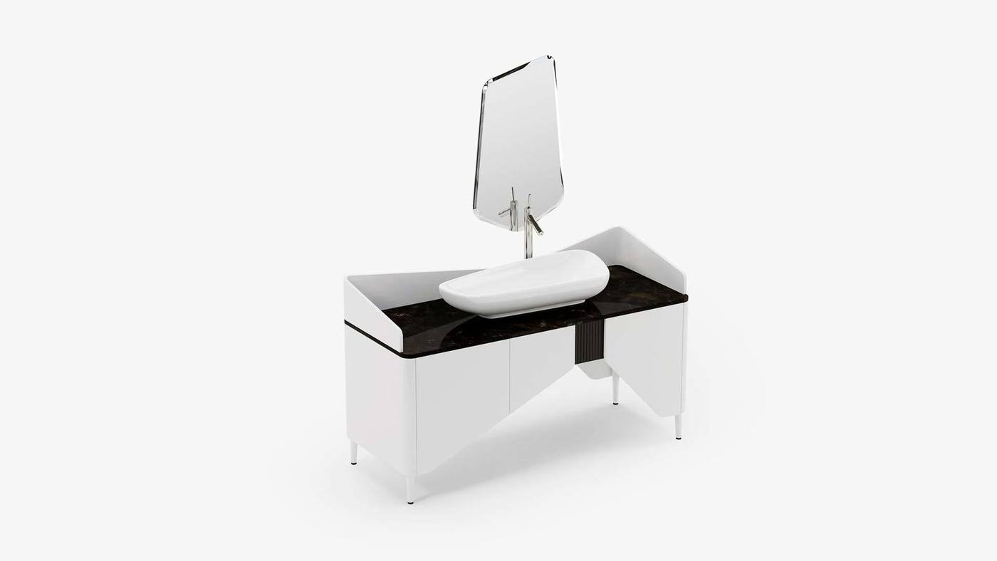 Bathroom desk design - Kilt by Ekaterina Elizarova