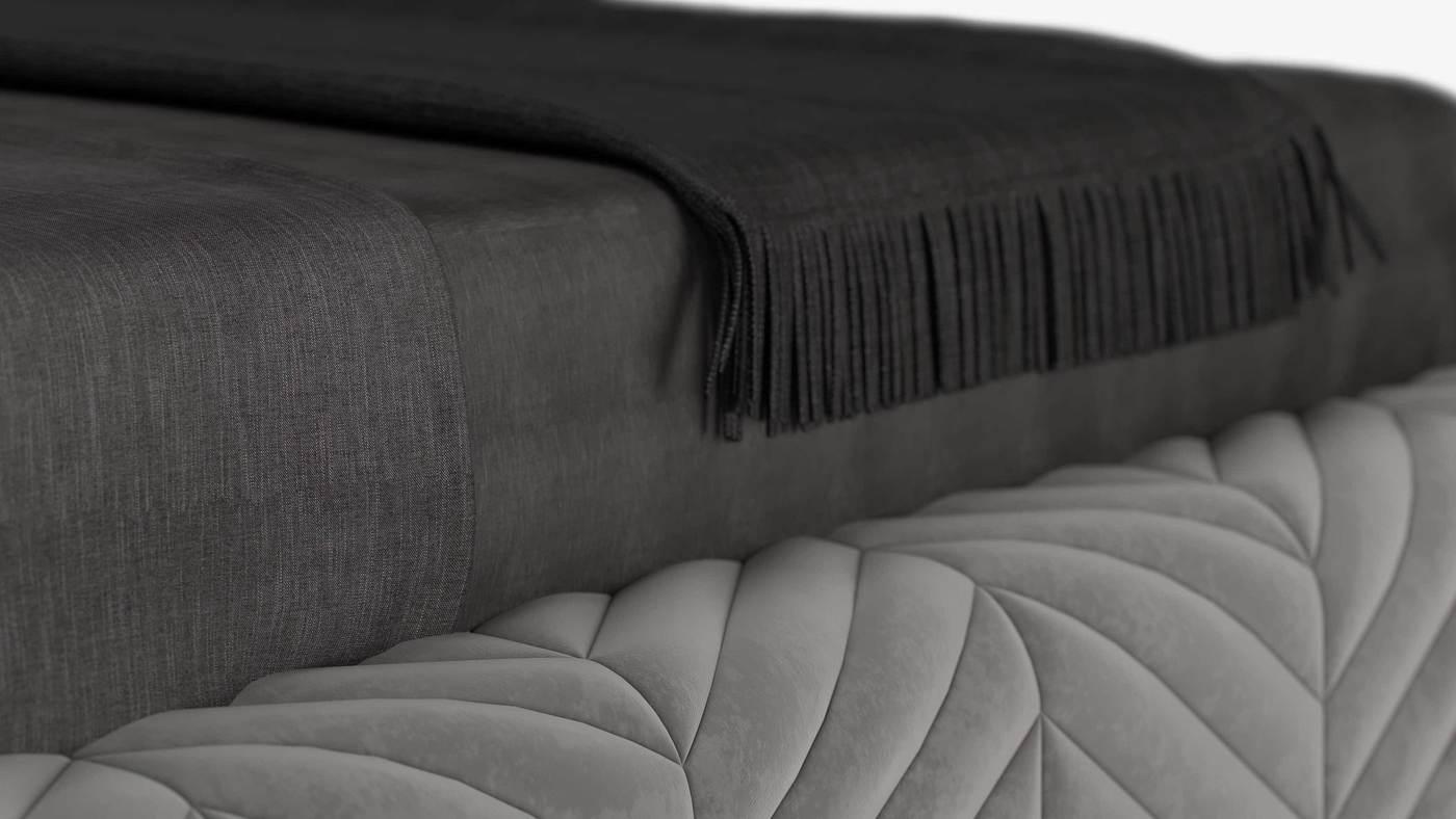 Кровать с мягким изголовьем для итальянского бренда от российского дизайнера -  - Smania Harrison от Екатерины Елизаровой