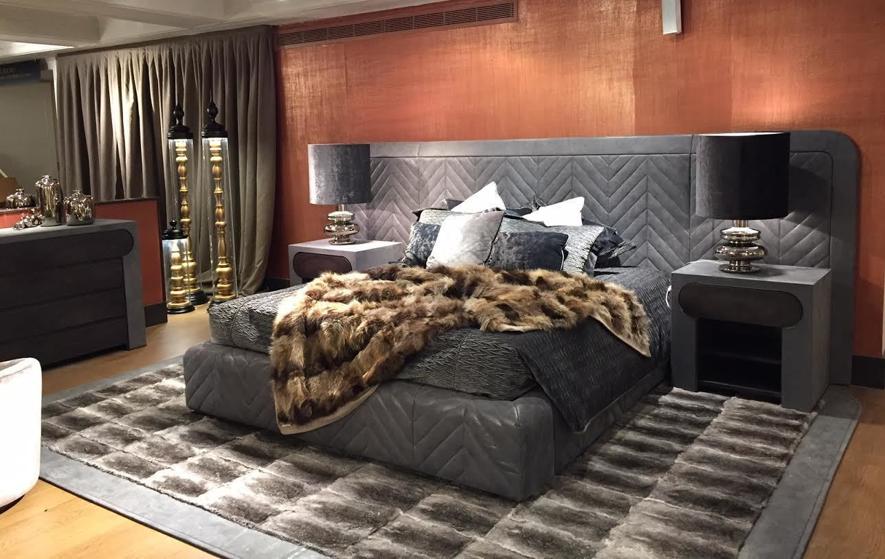 The luxurious Harrison double bed with headboard at Harrods