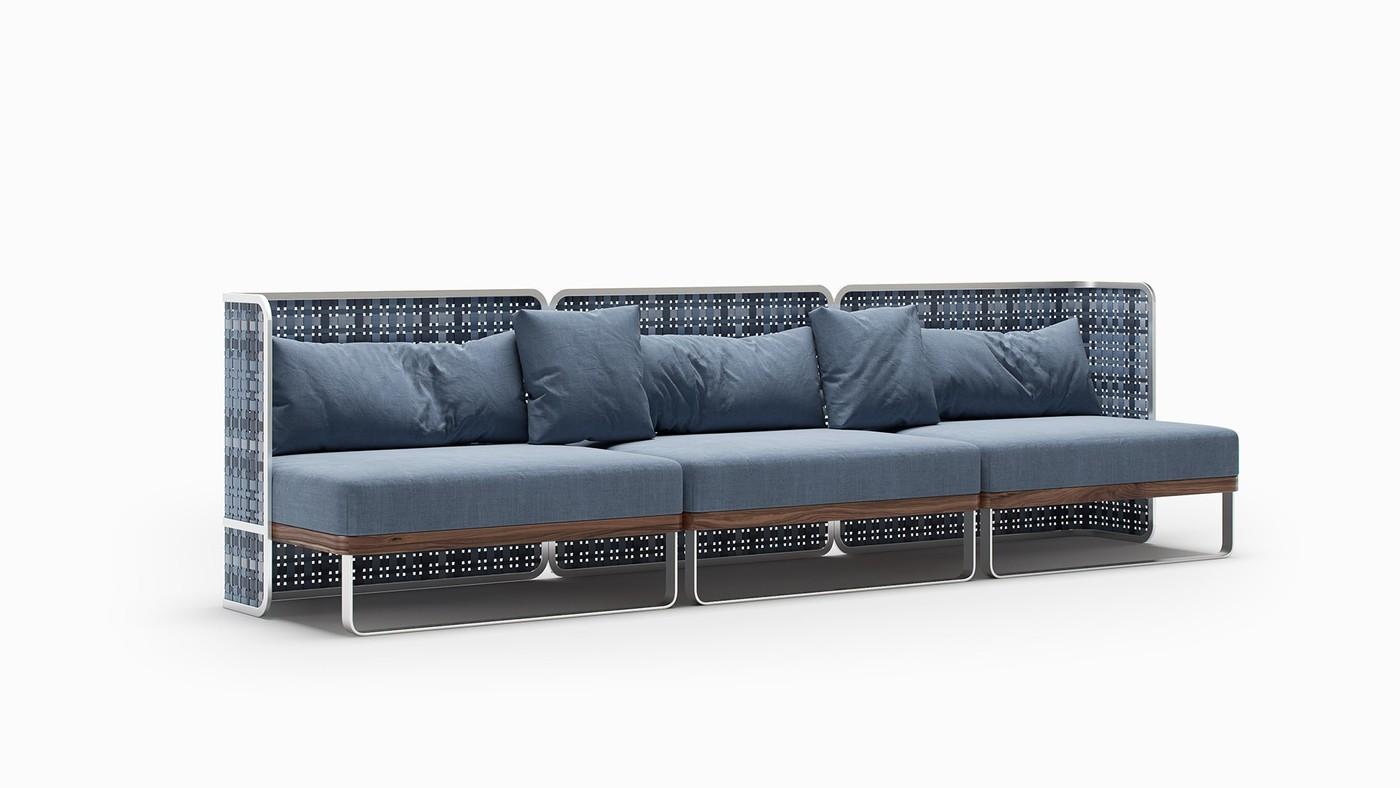 TARTAN - indoor sofa design