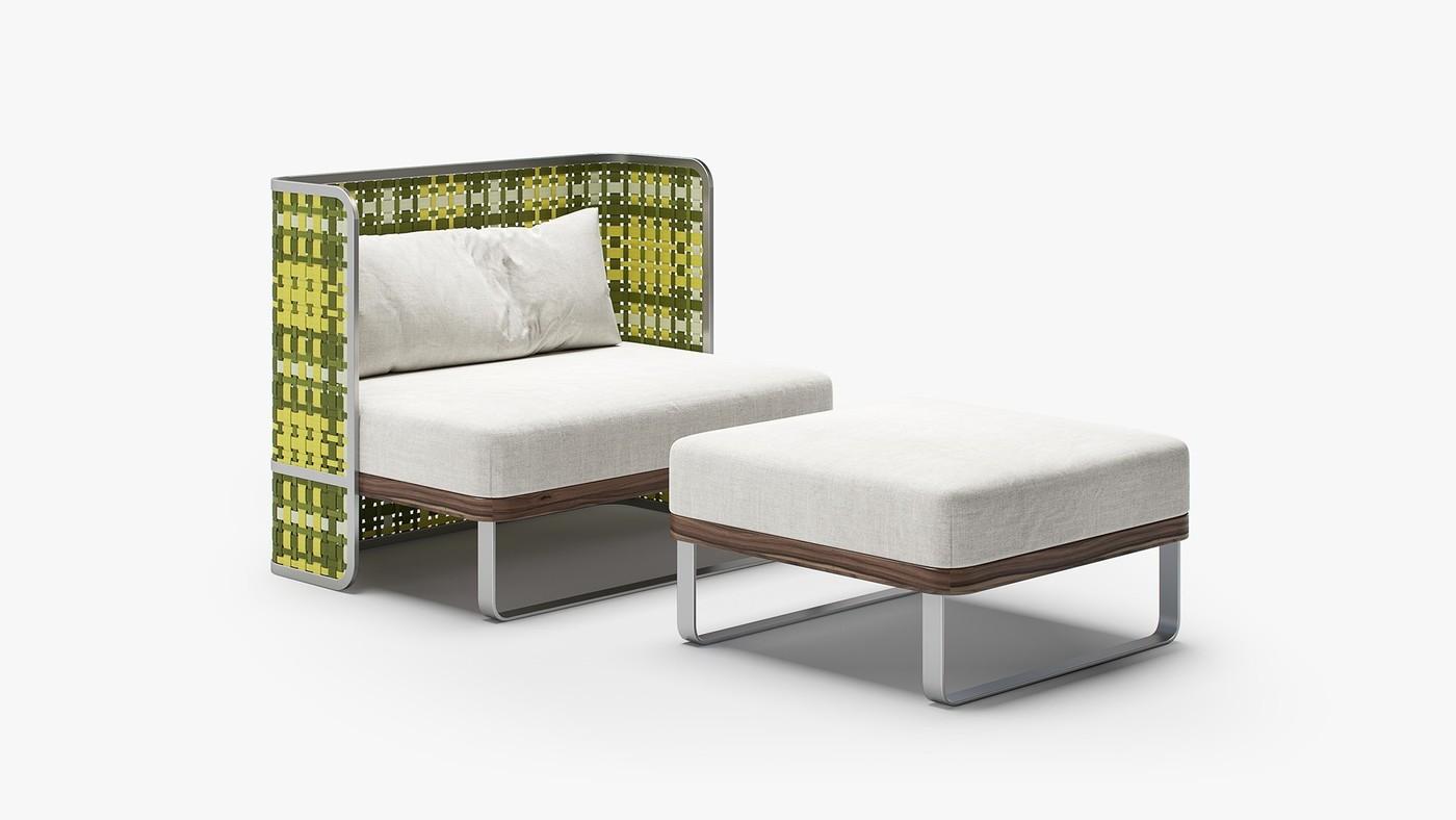 TARTAN - modern indoor bench design