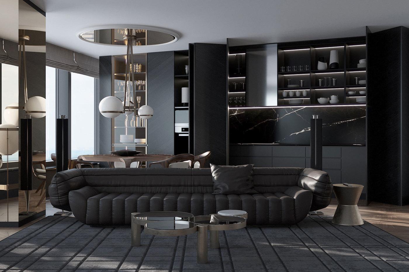 Tactile Baxter Couch by Vincenzo de Cotiis in Interior - Elizarova Design Studio