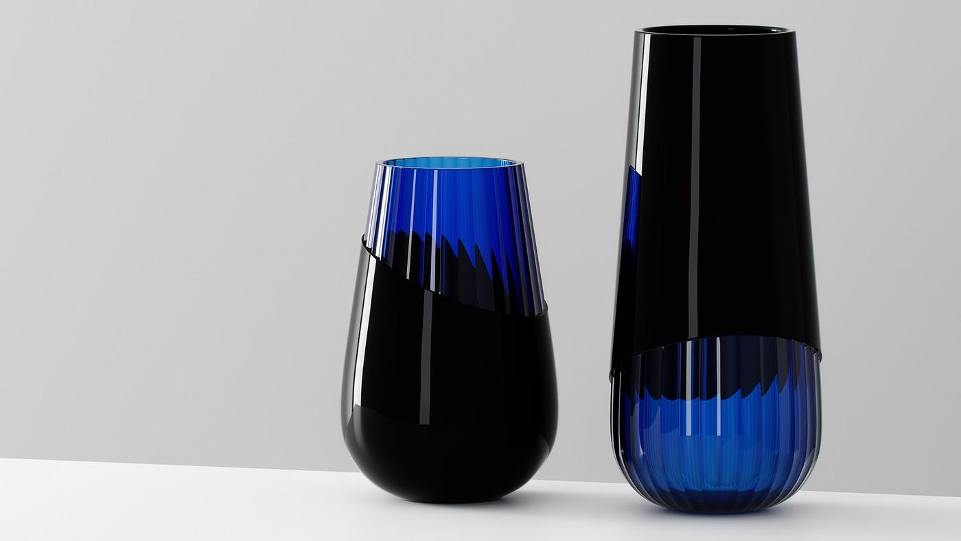Designer glass vases concept