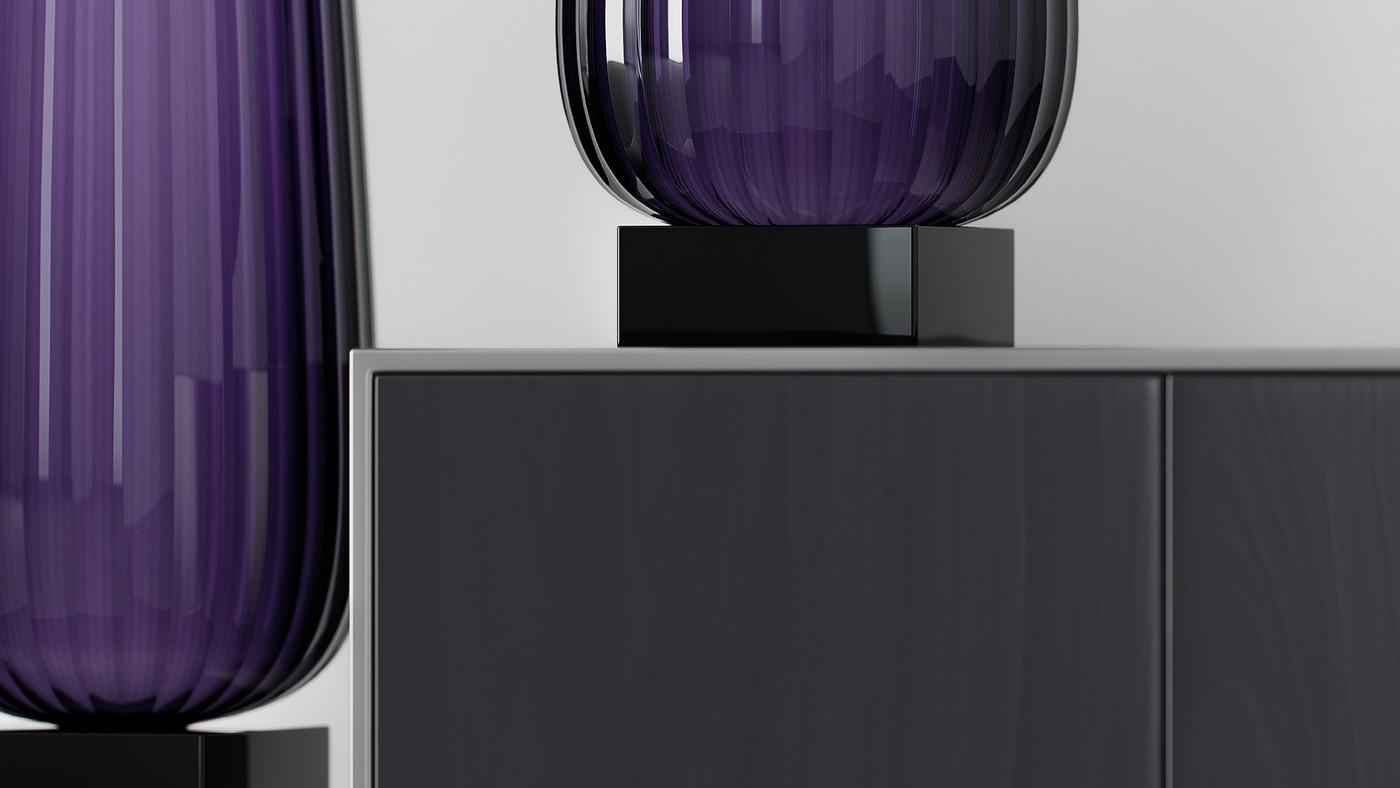 Дизайнерская стеклянная ваза - концепт
