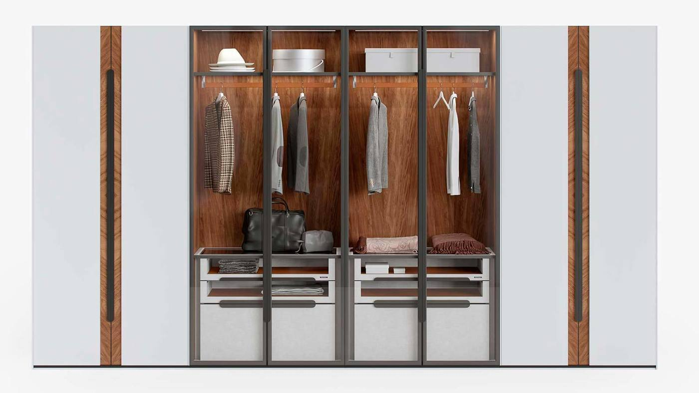 Modern Wardrobe and Armoire Collection - Manhattan by Ekaterina Elizarova and Giulia Novars