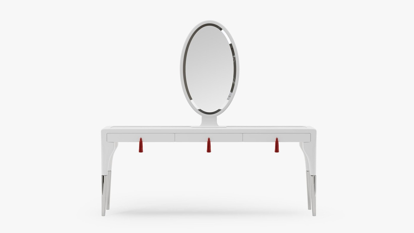 White Dressing Table with Drawers - Secret Passion by Ekaterina Elizarova