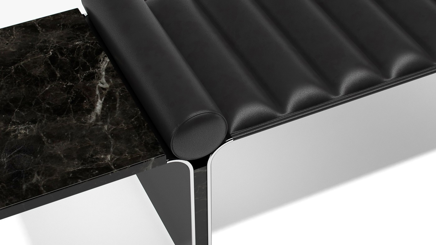 Black Raven - modern indoor bench design